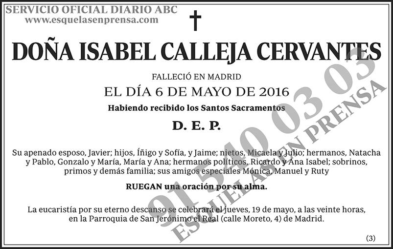 Isabel Calleja Cervantes